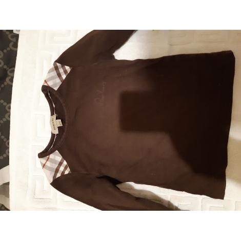 Top, Tee-shirt BURBERRY Marron