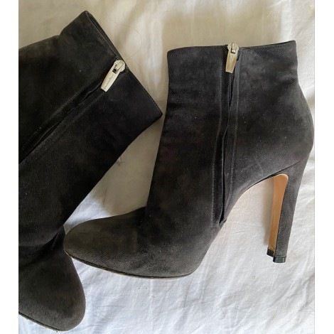 Bottines & low boots à talons GIANVITO ROSSI Gris, anthracite
