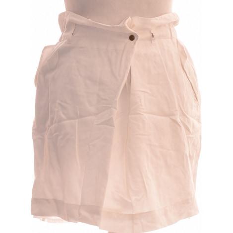 Jupe courte CHATTAWAK Blanc, blanc cassé, écru