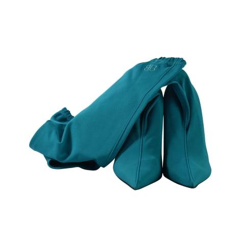 Bottes plates BALENCIAGA Bleu, bleu marine, bleu turquoise