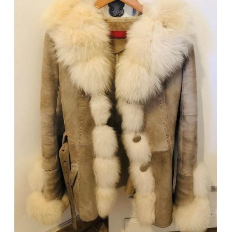Manteau en fourrure GIORGIO Blanc, blanc cassé, écru