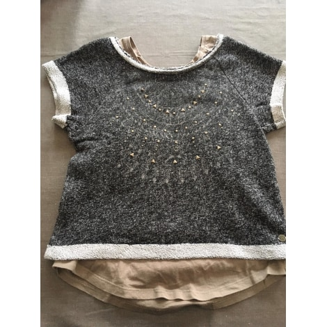 Top, Tee-shirt IKKS Gris, anthracite