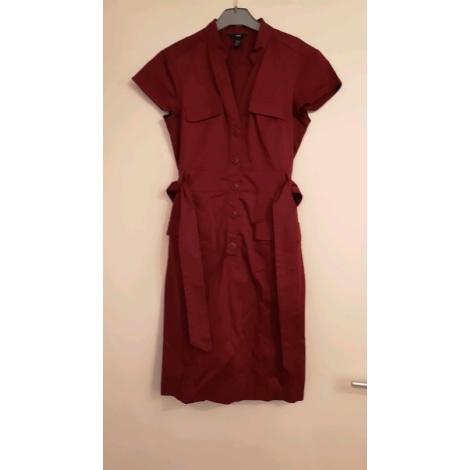 Robe mi-longue H&M Rouge, bordeaux