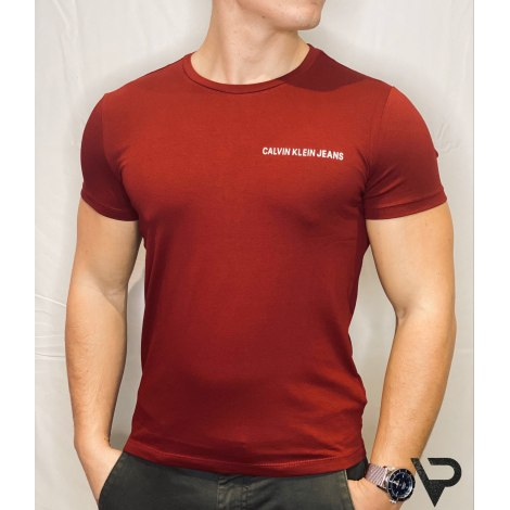 Tee-shirt CALVIN KLEIN Rouge, bordeaux