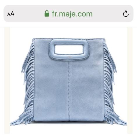 Sac à main en cuir MAJE Bleu, bleu marine, bleu turquoise