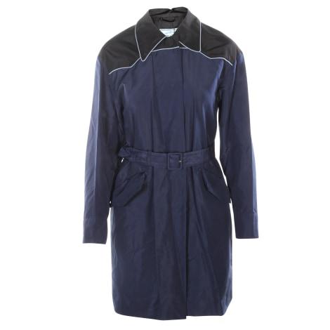 Manteau PRADA Bleu, bleu marine, bleu turquoise
