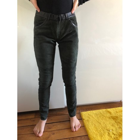 Pantalon slim, cigarette ISABEL MARANT ETOILE Kaki