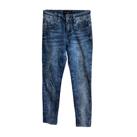 Jeans slim CORLÉONE Bleu, bleu marine, bleu turquoise