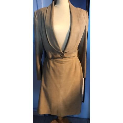 Tailleur jupe GIVENCHY COUTURE marron très clair