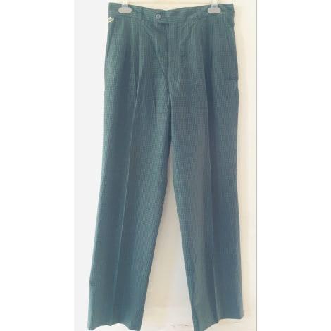 Pantalon droit LACOSTE Carreaux vert et bleu