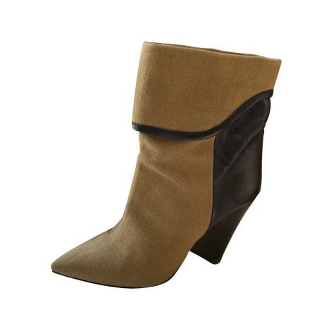 Bottines & low boots à talons ISABEL MARANT Kaki