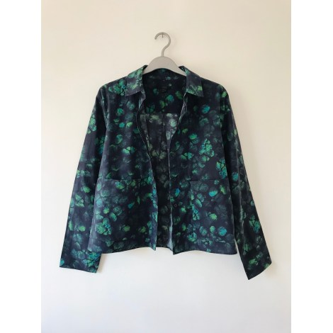 Chemise COS Bleu profond et vert