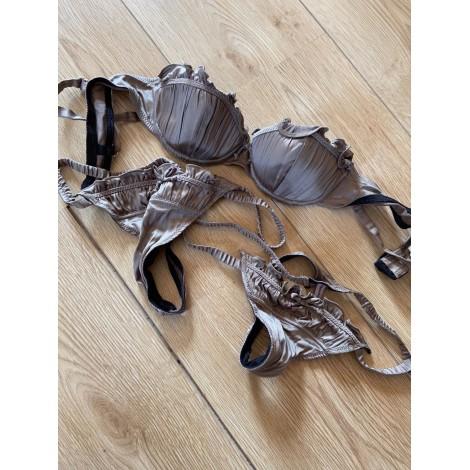 Ensemble, parure lingerie CHANTAL THOMASS Doré, bronze, cuivre