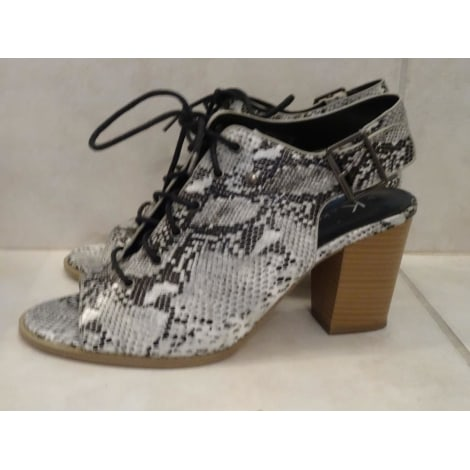 Sandales à talons KOOKAI noir & blanc