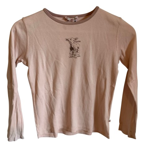 Top, Tee-shirt BONPOINT Rose, fuschia, vieux rose