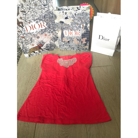Robe BABY DIOR Rouge, bordeaux