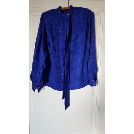 Blouse YVES SAINT LAURENT Bleu, bleu marine, bleu turquoise