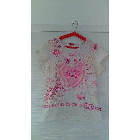 Top, Tee-shirt ESCADA Blanc, blanc cassé, écru