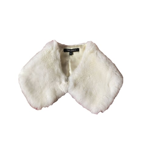 Foulard TARA JARMON Blanc, blanc cassé, écru