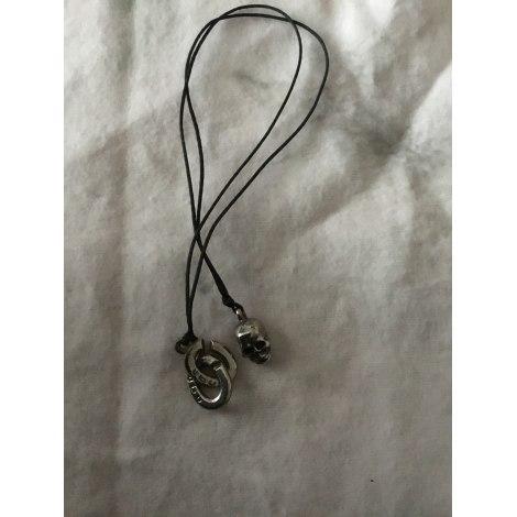Pendentif, collier pendentif UBU Argenté, acier