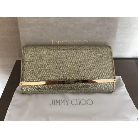Pochette JIMMY CHOO Doré, bronze, cuivre