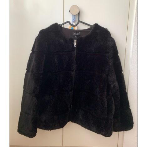 Blouson, veste en fourrure ZARA Noir
