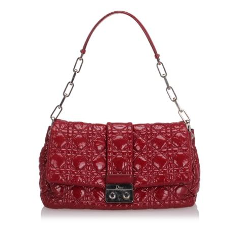 Leather Shoulder Bag DIOR Red