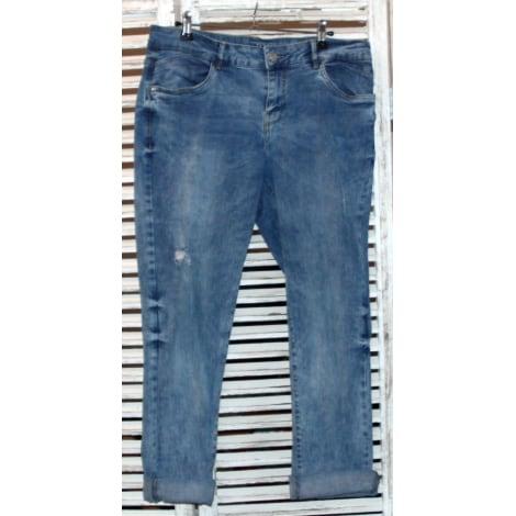 Jeans large, boyfriend PROMOD Bleu, bleu marine, bleu turquoise