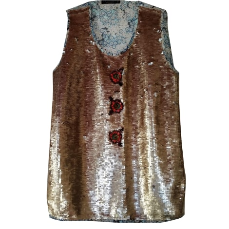 Top, tee-shirt TWIN-SET SIMONA BARBIERI Doré, bronze, cuivre