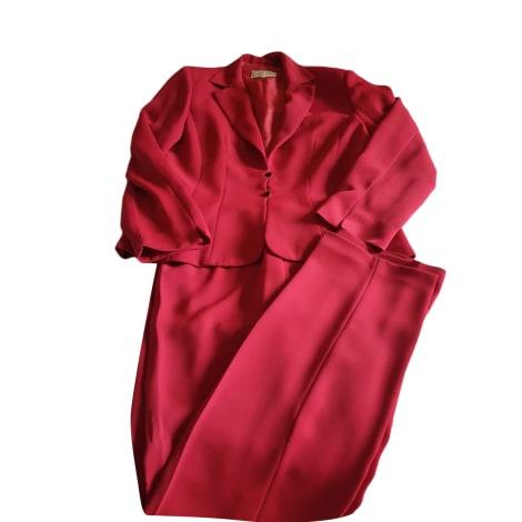 Tailleur pantalon ARMAND VENTILO Rouge, bordeaux