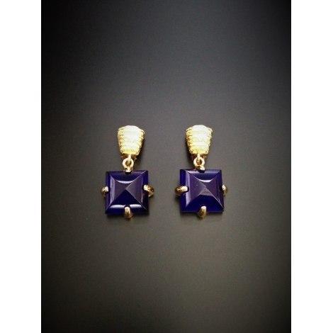 Boucles d'oreille DIOR Bleu, bleu marine, bleu turquoise
