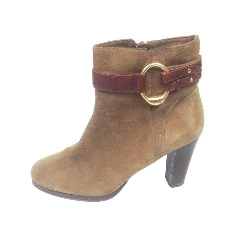 Bottines & low boots à talons RALPH LAUREN Doré, bronze, cuivre