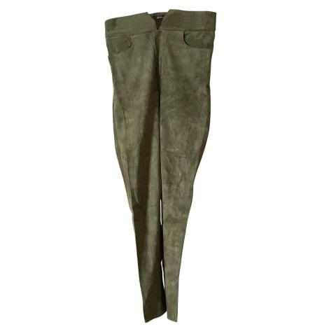 Pantalon slim, cigarette ISABEL MARANT Kaki