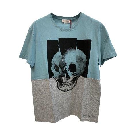 Tee-shirt ALEXANDER MCQUEEN turchese