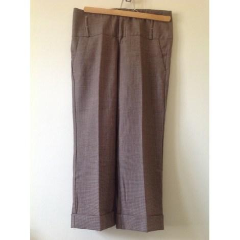 Pantalon large ONE STEP Tweed marron