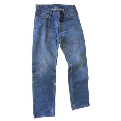 Jeans droit HELMUT LANG Bleu, bleu marine, bleu turquoise