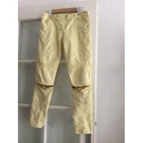 Pantalon droit PLEASE Jaune