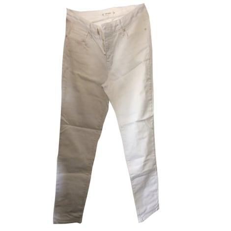 Jeans droit SUD EXPRESS Blanc, blanc cassé, écru