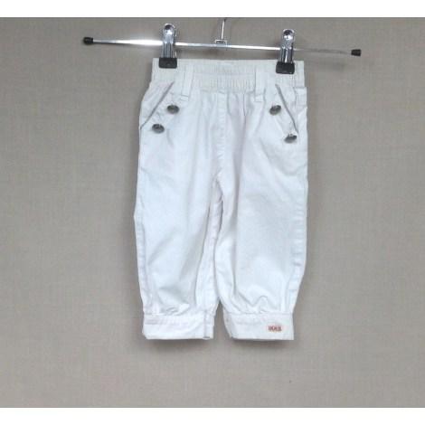 Pantalon IKKS Blanc, blanc cassé, écru