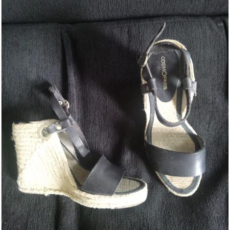 Sandales compensées COSMOPARIS Noir