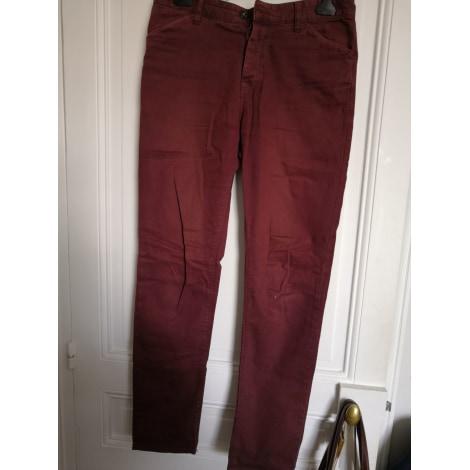 Pantalon slim ASOS Rouge, bordeaux