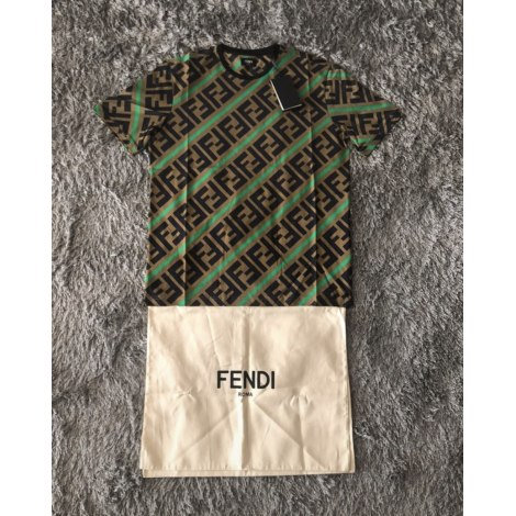Tee-shirt FENDI Marron