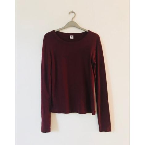 Top, tee-shirt PETIT BATEAU Rouge, bordeaux