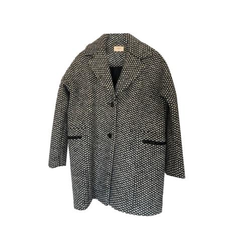 Manteau BA&SH imprimé noir et blanc
