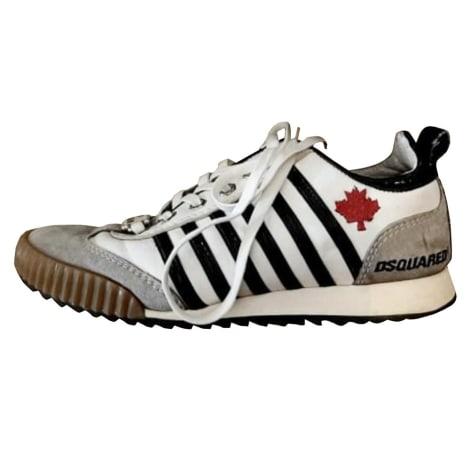 Chaussures de sport DSQUARED2 bianco grigio a strisce blu