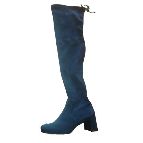 Bottes cuissards STUART WEITZMAN Bleu, bleu marine, bleu turquoise