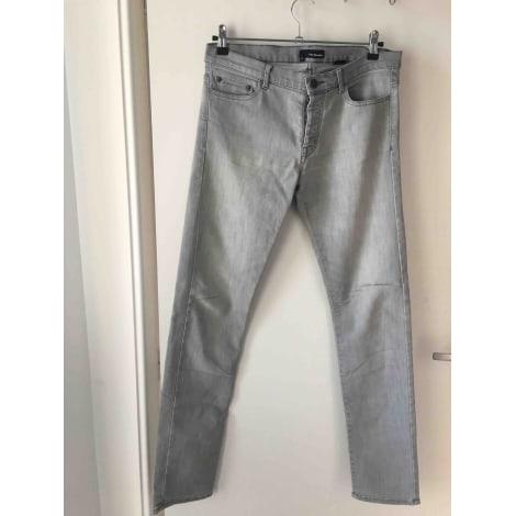 Jeans droit THE KOOPLES Gris, anthracite