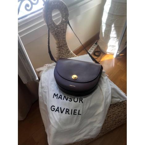 Sac en bandoulière en cuir MANSUR GAVRIEL Marron