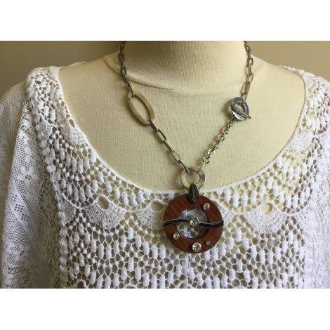 Pendentif, collier pendentif CAMAIEU Argenté, acier