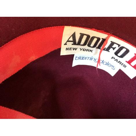 Chapeau ADOLFO Rouge, bordeaux